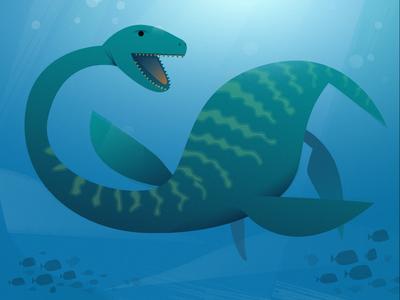 "The Plesiosaurus from ""101 Dinosaurs"""