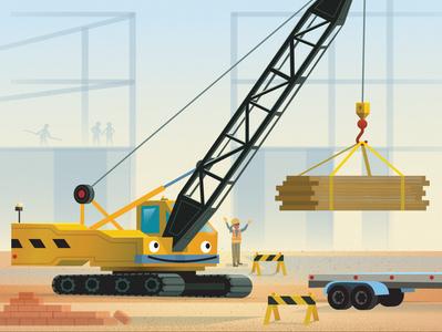 "The Crane from ""101 Trucks"""