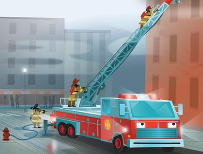 "The Ladder Truck from ""101 Trucks"""