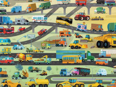 """last spread in the """"101 Trucks"""" book"""
