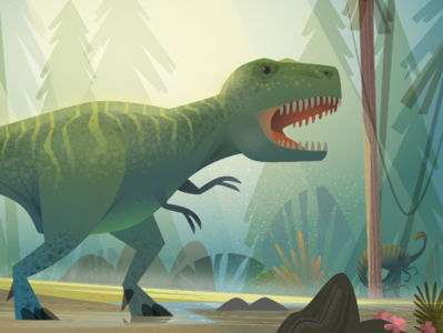 Detail from an upcoming book on Palaeontology