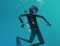 """The diver from """"Slickety Quick"""""""