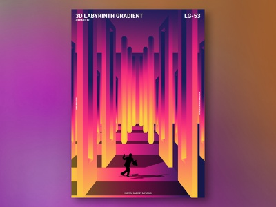 3D Labyrinth Gradient Poster Design 3d art artist gradient poster poster photoshop gradient design posters 3d artwork 3d artist 3d gradient artwork manipulation poster design poster a day poster collection abstract poster art poster design photoshop