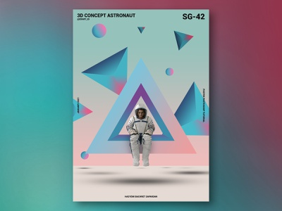3D Concept Astronauts Poster Design photoshop design poster poster art abstract poster collection poster a day poster design manipulation artwork gradient 3d architecture 3d artwork posters gradient design poster photoshop gradient poster 3d artist artist 3d art