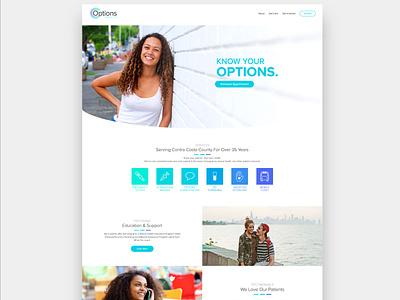 Options Health Website ultrasound options care pregnancy obgyn women design website health