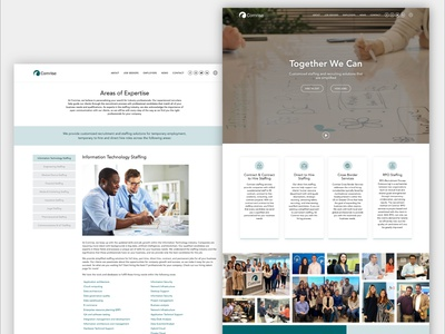 Comrise Website sleek modern clean wordpress design wordpress elementor-pro elementor website design company website design grey white teal website business employees hiring staffing