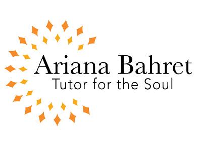 Ariana Bahret Logo sunshine firework diamond outgoing fun happy bright orange gold yellow light self care self help soul modern colorful geometric branding logo design logo