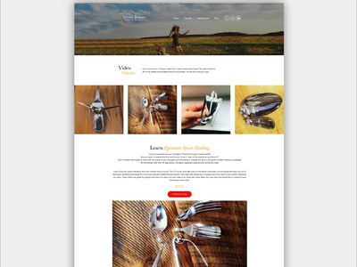Ariana Bahret Website simple classes website design ecourse webinar ecommerce dynamic sleek modern yellow gold orange bright colorful elementor-pro elementor website