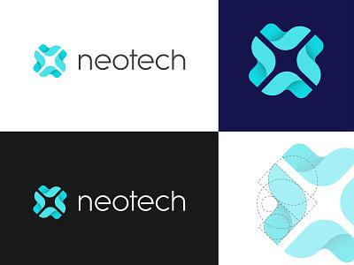 Neotech Logo Design shapes geometric technology logo logo design logodesign logo technology tech