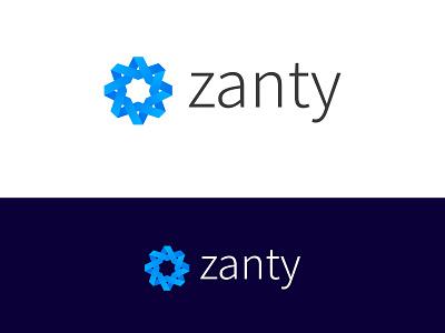 Zanty Logo and Branding logo design tech logo medical logo technology medical ribbon shapes geometric logo