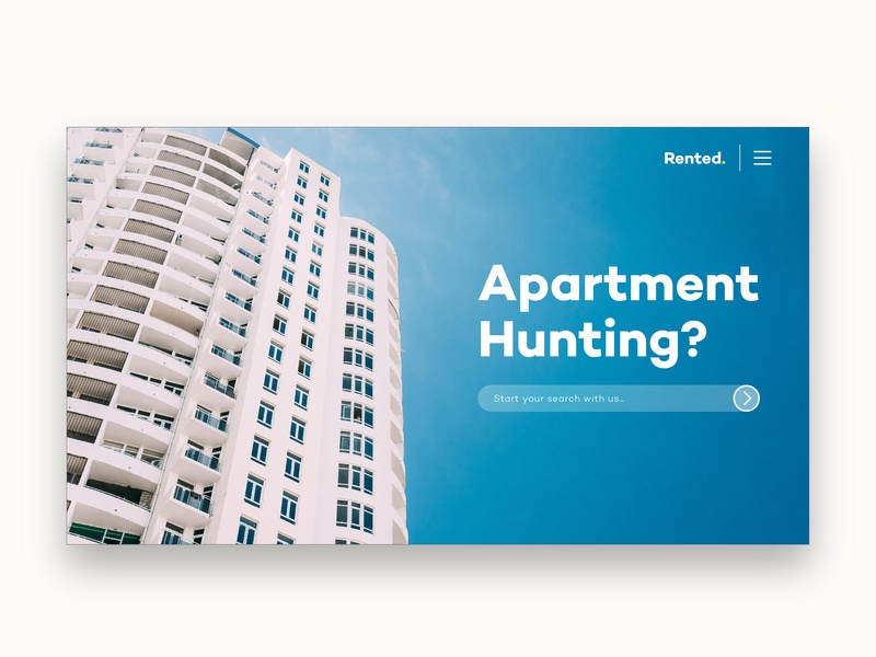 Apartment/Rental Search Website real estate realestate home wordpress graphicdesign website design uiux ux landing page ui website homepage landing page search apartment