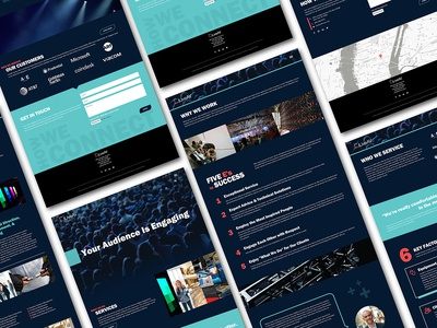 LiveAV Website Design website design entertainment shows technology dark blue dark website visual audio audio visual