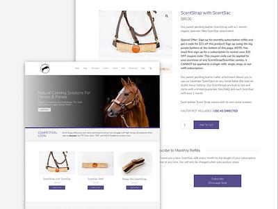HorseScents Website Design ecommerce design ecommerce calm startup lavender horseback stable barn farm simple modern clean web design website equine horse