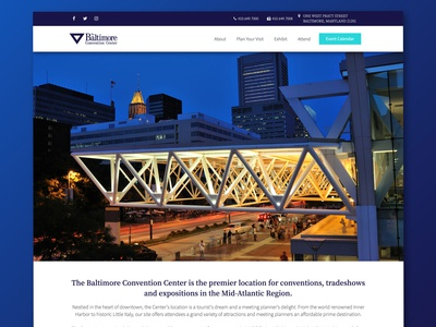 Baltimore Convention Center Website Redesign
