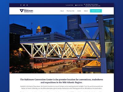 Baltimore Convention Center Website Redesign website architecture website baltimore web design architecture real estate expo convention convention center baltimore