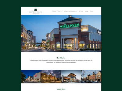 Greenberg Gibbons Website Design Concept developer real estate website website design website architecture website shopping centers mixed use retail community houses homes architecture building commercial real estate