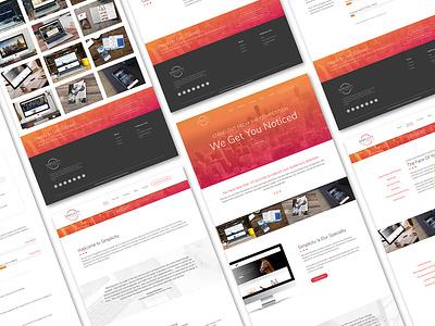 Simplicity Design and Marketing Website website branding colorful uiux website design graphic design clean simple company design marketing sleek orange pink gradient modern