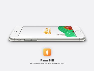 Farm Hill - App case study mockup splash delivery food illustration ux ui app process design process