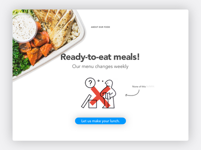 Ready to eat! product design wip ready overlay no cooking no assembly ikea guy healthy food easy cooking about us