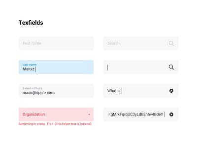 Styleguide - Textfields form ui clear search error textfields styleguide