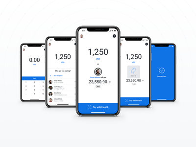 Pay confirmation faceid transactions international payment app blockchain xrp bitcoin fiat crypto
