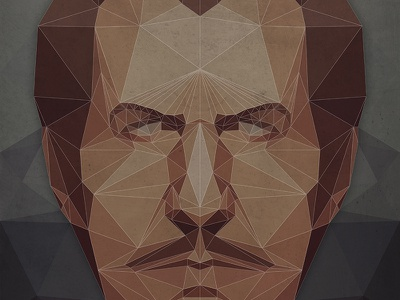 Lo Poli Vincent Price illustration character vector vincent price horror retro poster low poly