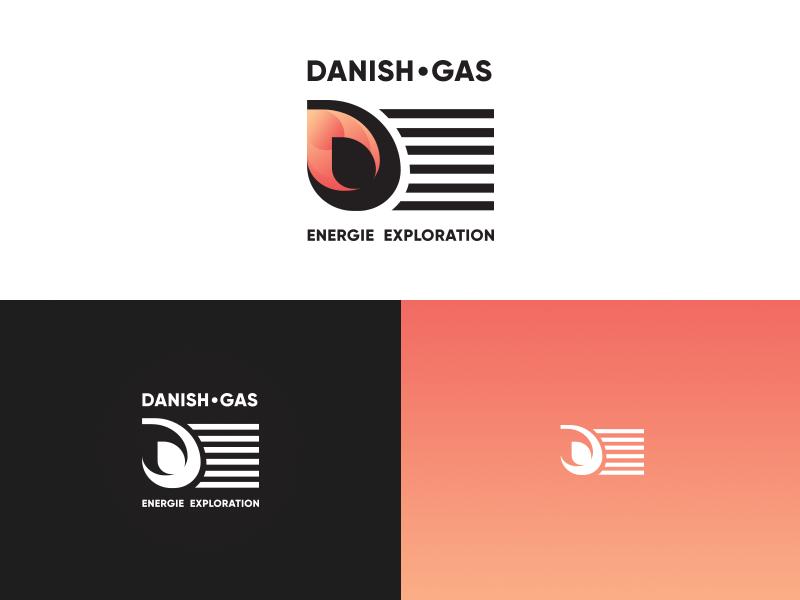 Danish Gas gas goverment modern logo branding logo