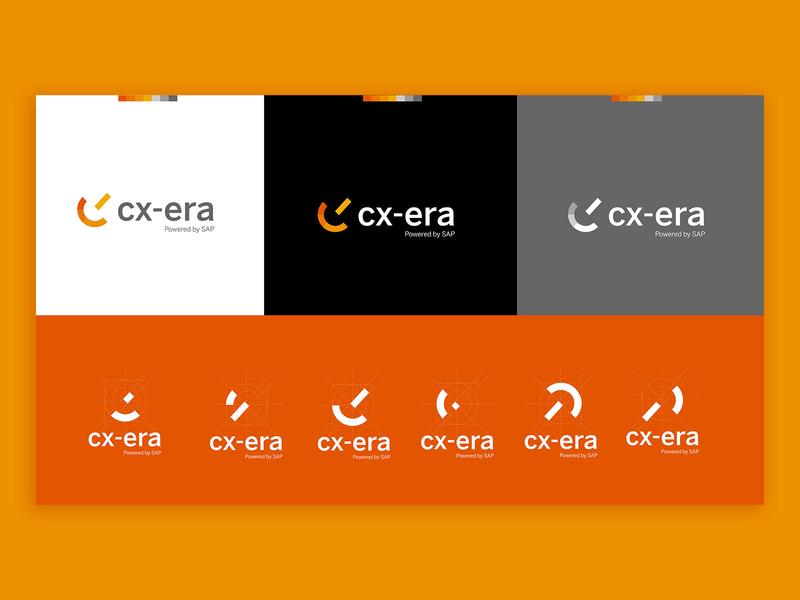 CXera - Powered by SAP / version2 typography icon branding logo vector design artdirection