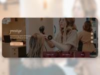 Beauty salon homepage