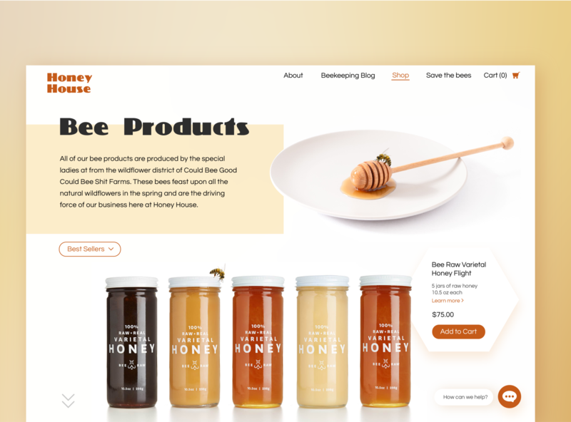 Honey House Bee Company Concept concept branding web  design web concept design typography adobe illustrator ux  ui ux design design