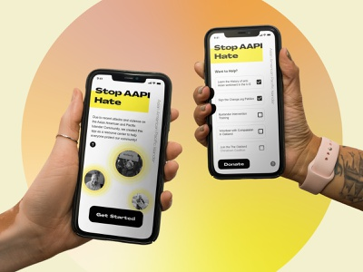 All Hands to Stop AAPI Hate concept mobile app web  design typography concept design design ui ux  ui ux design