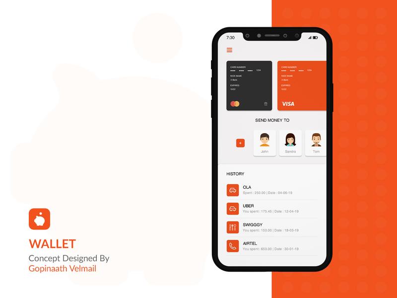 Wallet Dashboard bank ui dashboard flat dashboard money transfer bank dashboard mobile  bank