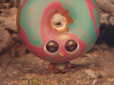 Doughnut boy meshroom doughnut cute happy big eyes cycles 3d blender