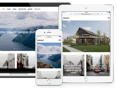 Insight Theme for WordPress full-width slideshow magazine minimal wordpress theme