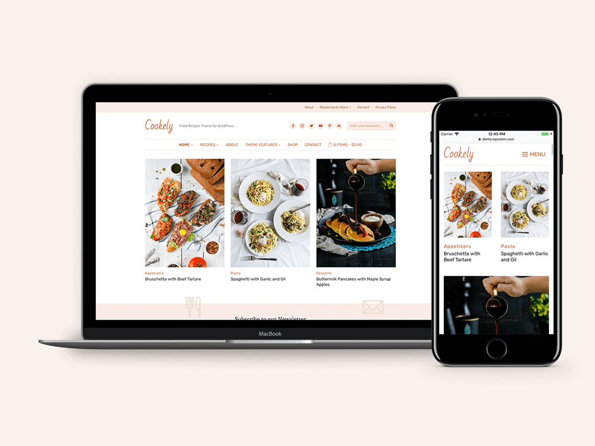 Cookely - Food Blog Theme for WordPress blog recipes food theme wpzoom wordpress