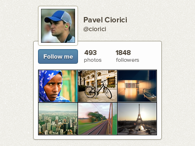 Instaprofile instagram widget profile follow stats