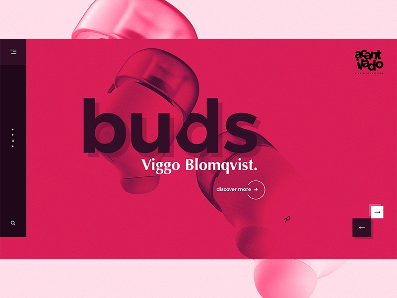 Buds typography uidesign ux design ui web minimalism design ux ui design