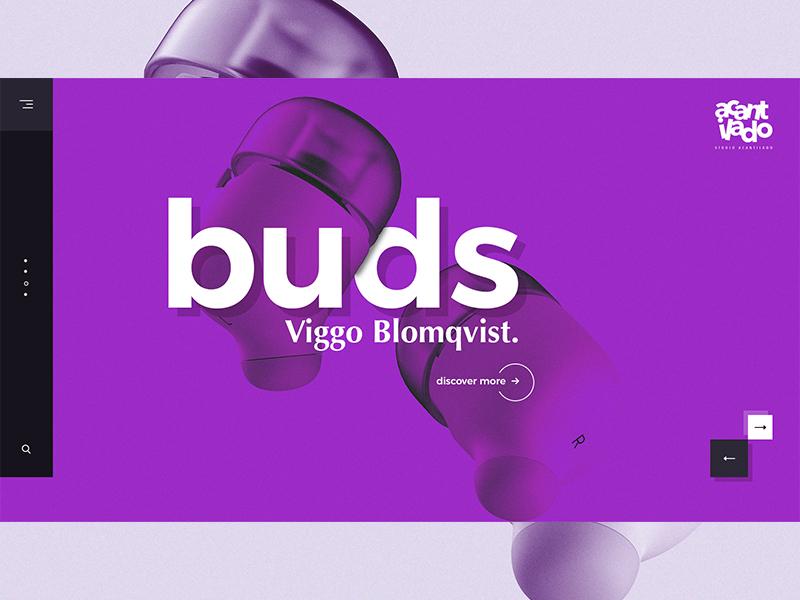 Purple Buds minimalism web typography uidesign ux design ui ui design
