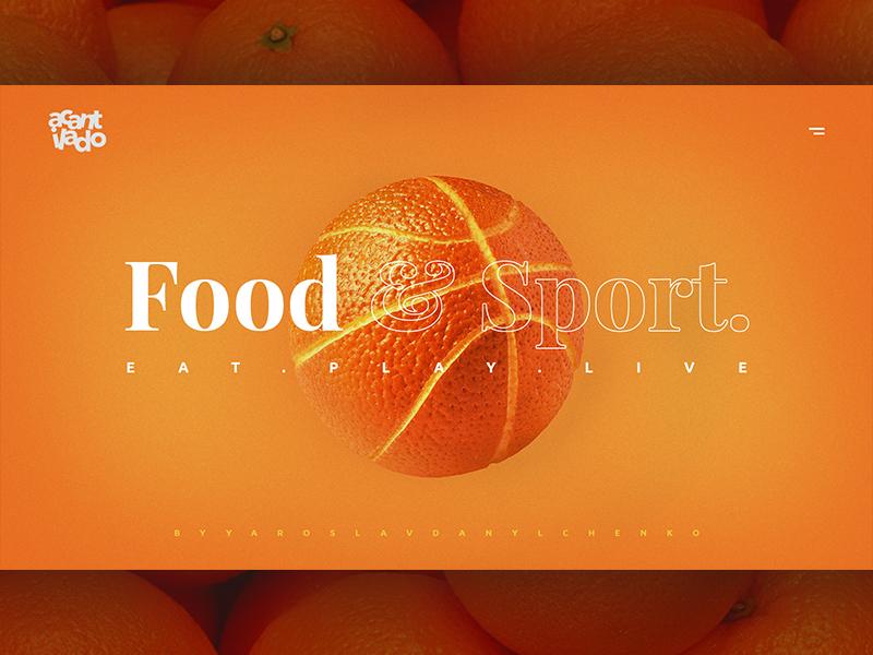 Fruit & Sport web ui typography minimalism uidesign design ux ux design ui design