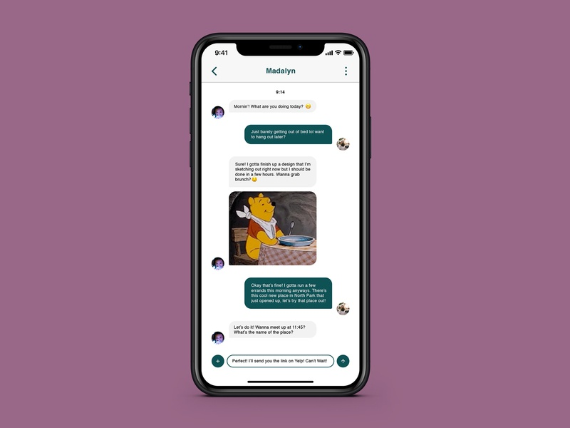 Daily UI 013 - Direct Messaging direct messaging daily ui 013 mobile ui daily ui design