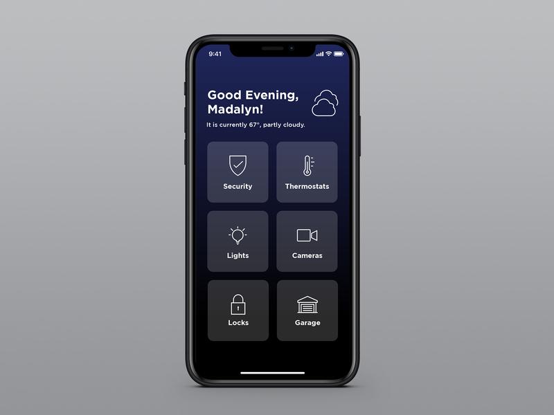 Daily UI 021 - Home Monitoring Dashboard dashboard home monitoring dashboard daily ui 021 mobile concept ui daily ui design