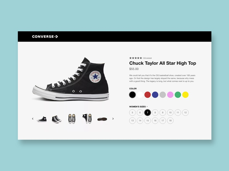 Daily UI 060 - Color Picker product page product description page shoes color picker daily ui 060 concept ui daily ui design