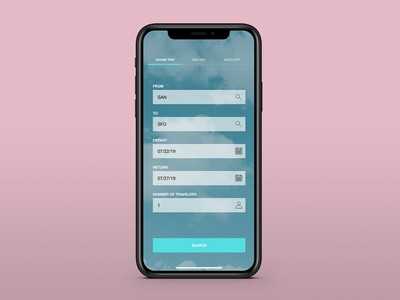 Daily UI 068 - Flight Search