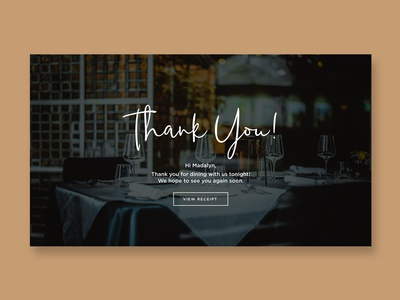 Daily UI 077 - Thank You