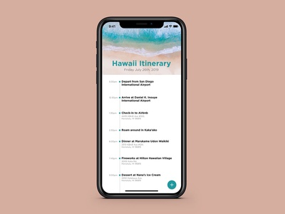 Daily UI 079 - Itinerary