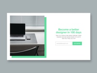 Daily UI 100 - Redesign Daily UI Landing Page redesign daily ui 100 ui daily ui design
