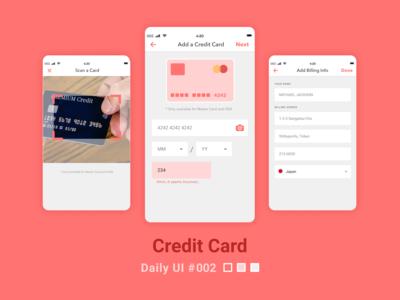 Daily UI #002 Credit Card