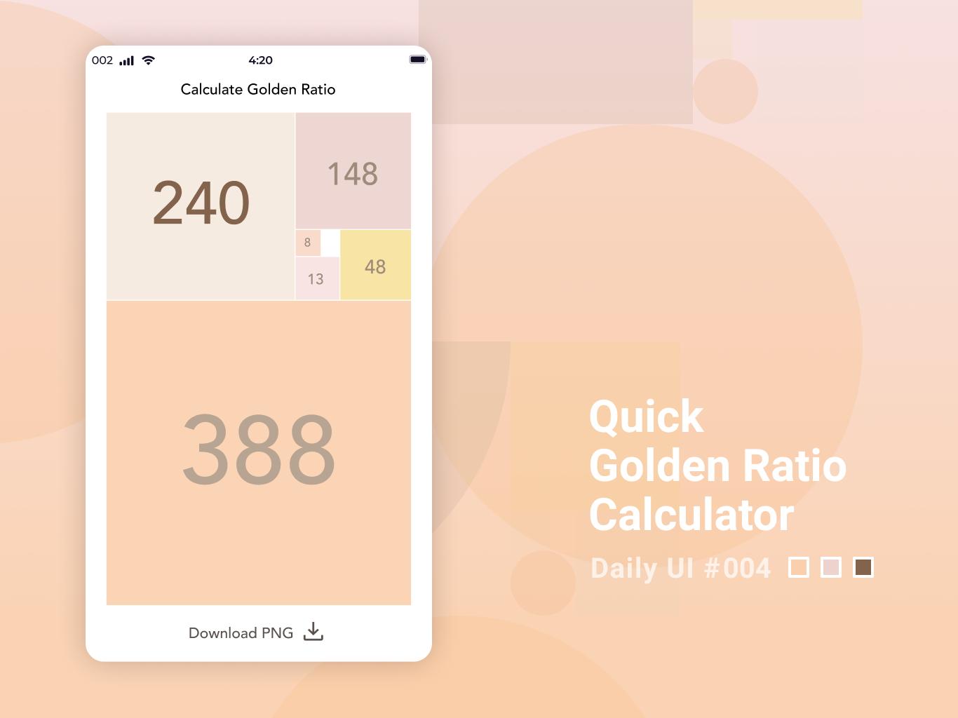 Daily UI #004 Calculator dailyui daily ui
