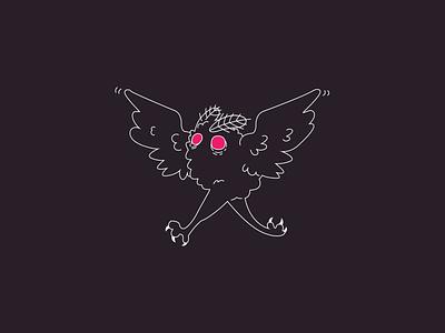 Mothman cryptid mothman vector design illustration