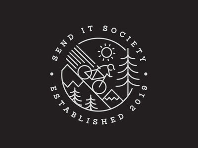 Send It Society Logo handdrawn illustration apparel merch design graphic design digital arts vector branding logo digital art handdrawn drawing apparel design typography screen print illustration design